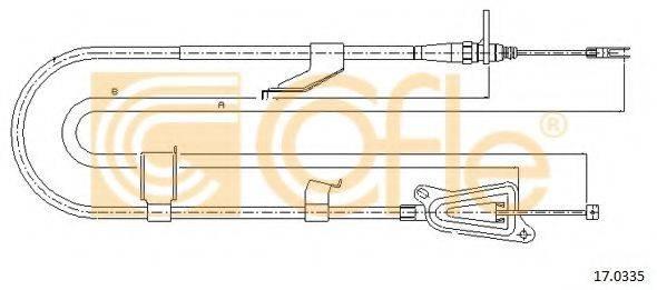 COFLE 170335 Трос, стояночная тормозная система