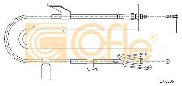 COFLE 170336 Трос, стояночная тормозная система
