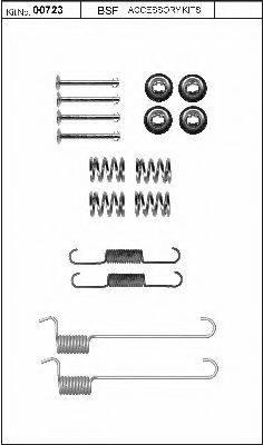 BSF 00723 Комплектующие, стояночная тормозная система