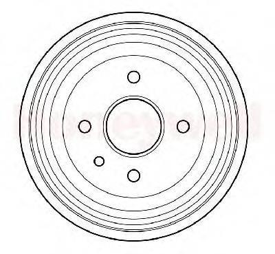 BENDIX 329201B Тормозной барабан