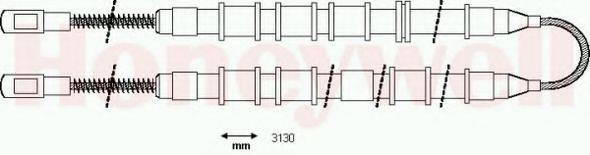 BENDIX 431233B Трос, стояночная тормозная система