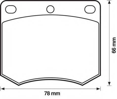 BENDIX 571906X Комплект тормозных колодок, дисковый тормоз