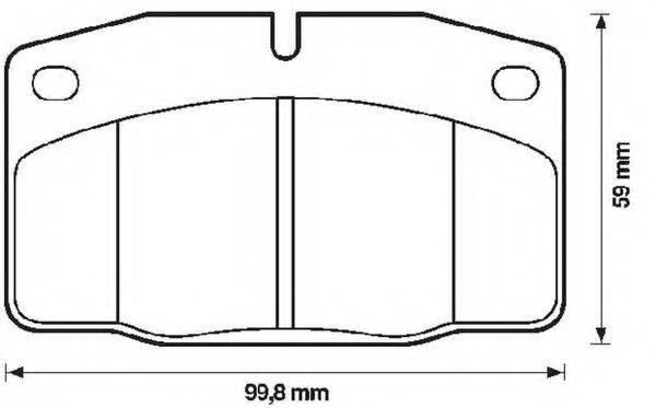BENDIX 571276B Комплект тормозных колодок, дисковый тормоз