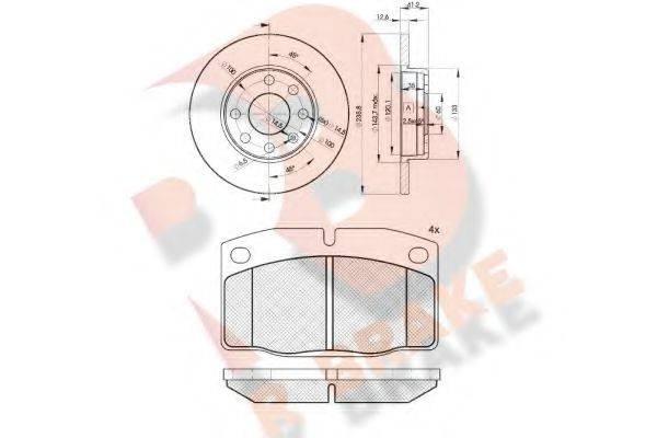 R BRAKE 3R04541240 Комплект тормозов, дисковый тормозной механизм