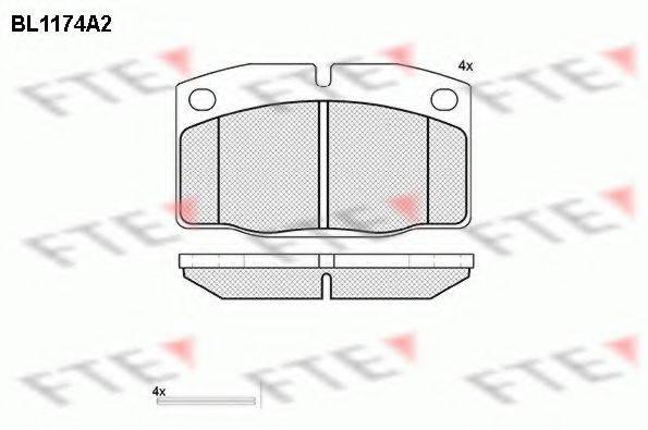FTE BL1174A2 Комплект тормозных колодок, дисковый тормоз