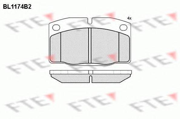 FTE BL1174B2 Комплект тормозных колодок, дисковый тормоз