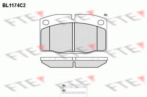 FTE BL1174C2 Комплект тормозных колодок, дисковый тормоз
