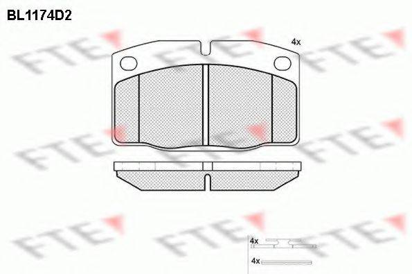 FTE BL1174D2 Комплект тормозных колодок, дисковый тормоз