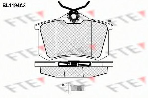 FTE BL1194A3 Комплект тормозных колодок, дисковый тормоз