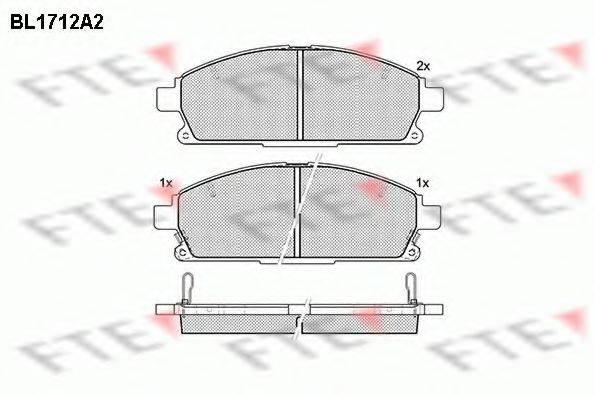 FTE BL1712A2 Комплект тормозных колодок, дисковый тормоз