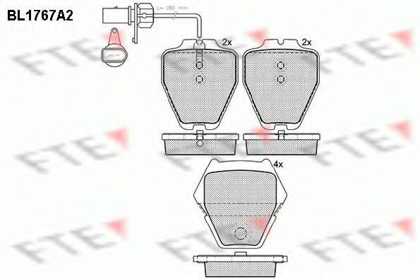 FTE BL1767A2 Комплект тормозных колодок, дисковый тормоз