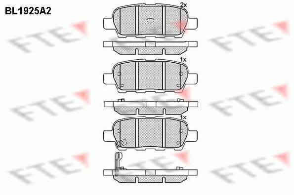 FTE BL1925A2 Комплект тормозных колодок, дисковый тормоз