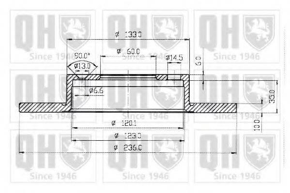 QUINTON HAZELL BDC3240 Тормозной диск