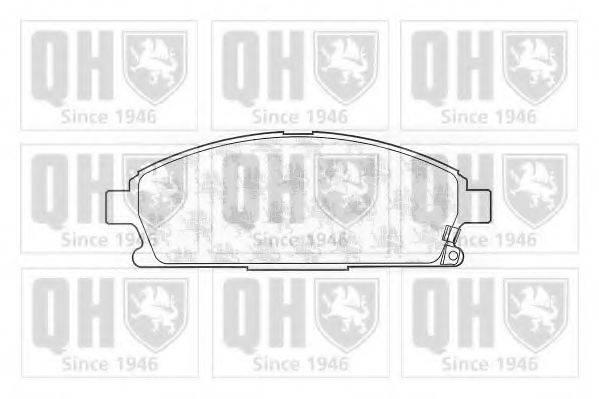 QUINTON HAZELL BP1081 Комплект тормозных колодок, дисковый тормоз