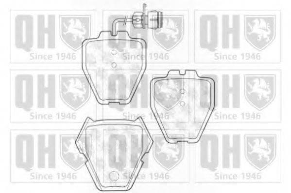 QUINTON HAZELL BP1268 Комплект тормозных колодок, дисковый тормоз