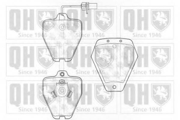 QUINTON HAZELL BP1299 Комплект тормозных колодок, дисковый тормоз