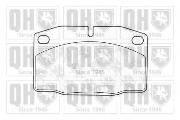 QUINTON HAZELL BP141 Комплект тормозных колодок, дисковый тормоз