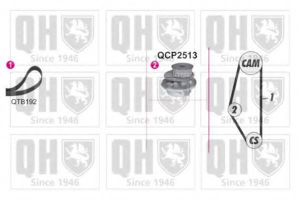 QUINTON HAZELL QBPK9049 Водяной насос + комплект зубчатого ремня