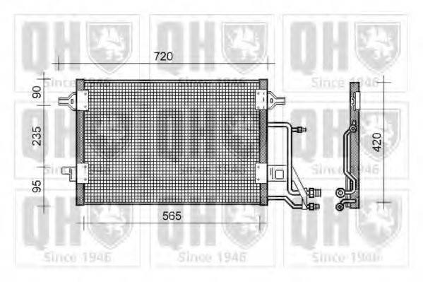 QUINTON HAZELL QCN135 Конденсатор, кондиционер