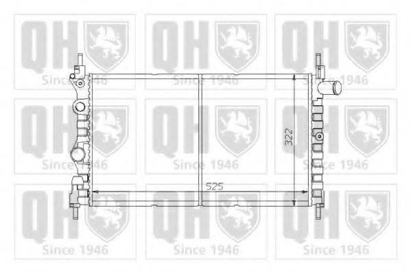 QUINTON HAZELL QER1230 Радиатор, охлаждение двигателя