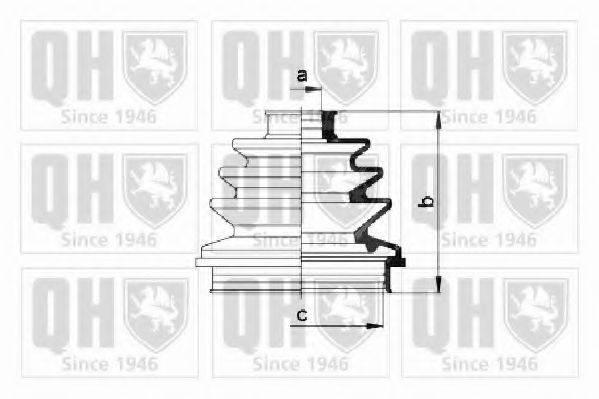 QUINTON HAZELL QJB133 Комплект пылника, приводной вал