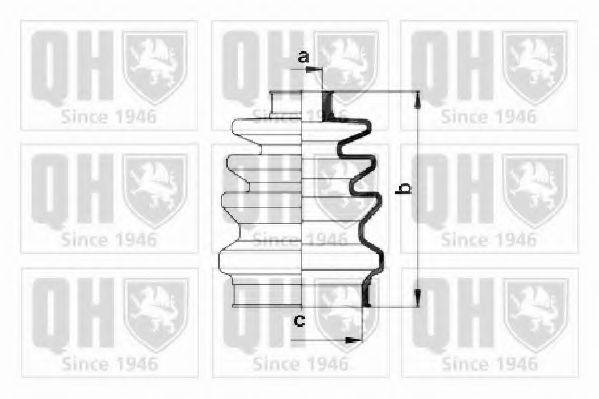 QUINTON HAZELL QJB167 Комплект пылника, приводной вал