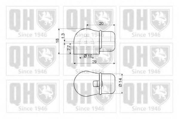 QUINTON HAZELL QTS128528 Газовая пружина, крышка багажник