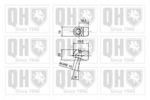 QUINTON HAZELL QTS128347 Газовая пружина, капот