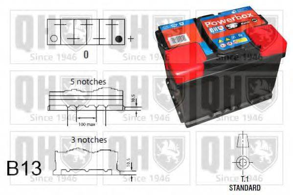 QUINTON HAZELL QBT096AGM Стартерная аккумуляторная батарея