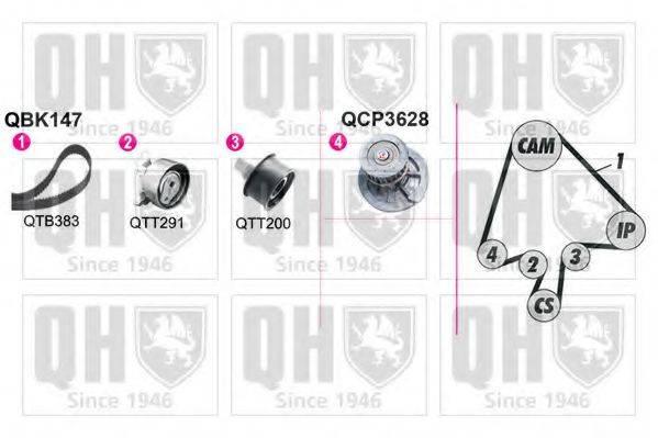 QUINTON HAZELL QBPK1471 Водяной насос + комплект зубчатого ремня