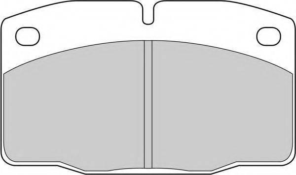 FERODO FDB173G Комплект тормозных колодок, дисковый тормоз
