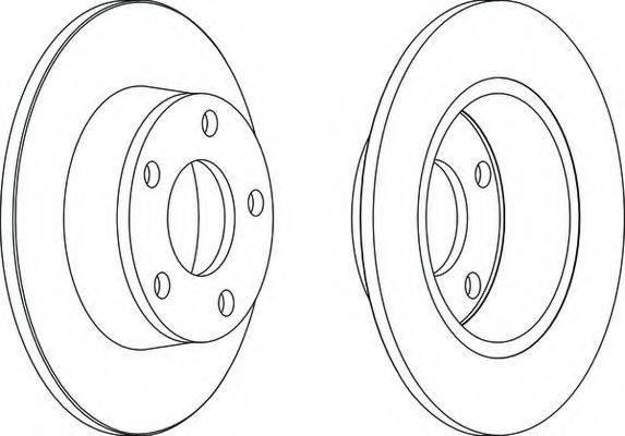 FERODO DDF11901 Тормозной диск