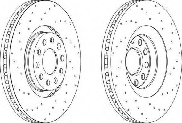 FERODO DDF14221 Тормозной диск
