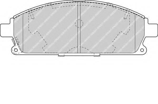 FERODO FDB1263 Комплект тормозных колодок, дисковый тормоз