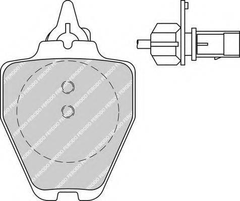 FERODO FDB1709 Комплект тормозных колодок, дисковый тормоз