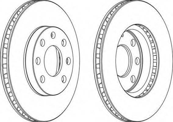 FERODO DDF151 Тормозной диск