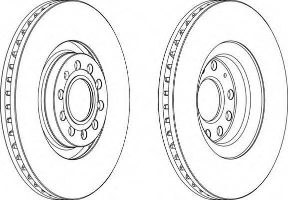 FERODO DDF1705 Тормозной диск