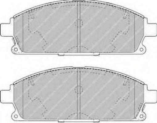 FERODO FSL1263 Комплект тормозных колодок, дисковый тормоз