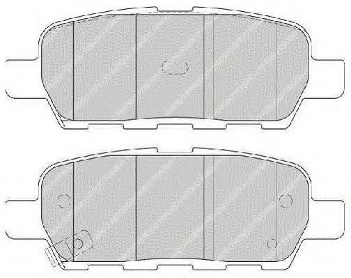 FERODO FSL1693 Комплект тормозных колодок, дисковый тормоз
