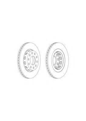 FERODO DDF2181C Тормозной диск