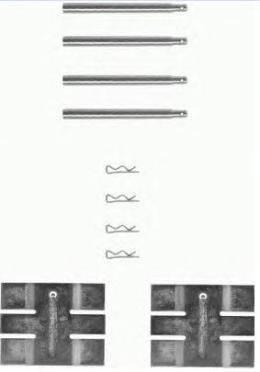 BREMBO A02293 Комплектующие, колодки дискового тормоза