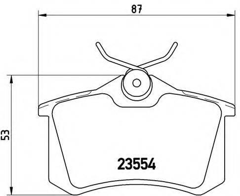 BREMBO P85017 Комплект тормозных колодок, дисковый тормоз