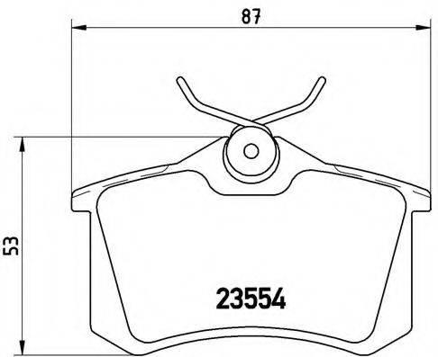 BREMBO P85020 Комплект тормозных колодок, дисковый тормоз