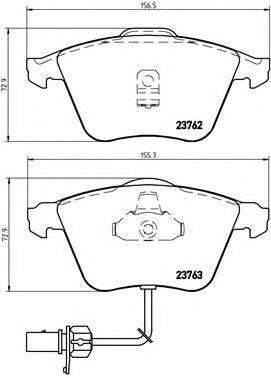 BREMBO P85056 Комплект тормозных колодок, дисковый тормоз