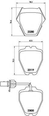 BREMBO P85067 Комплект тормозных колодок, дисковый тормоз