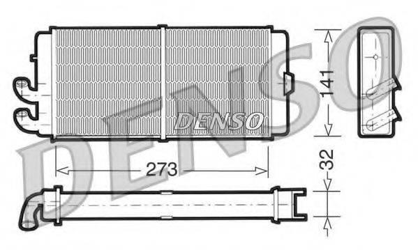 DENSO DRR02001 Теплообменник, отопление салона