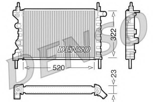 DENSO DRM20031 Радиатор, охлаждение двигателя