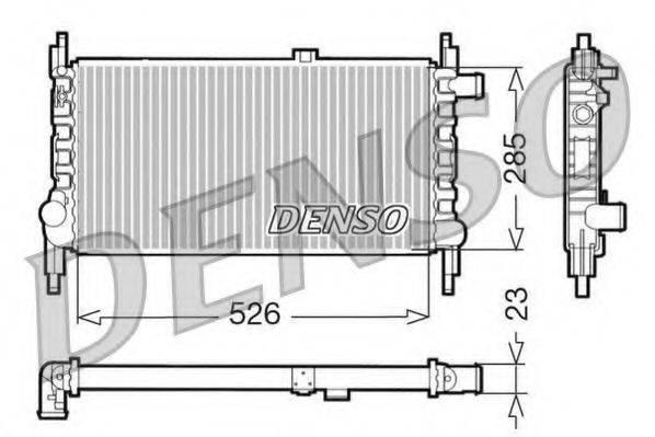DENSO DRM20035 Радиатор, охлаждение двигателя