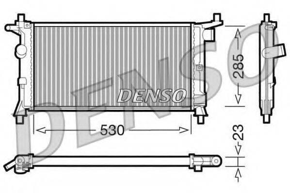 DENSO DRM20037 Радиатор, охлаждение двигателя