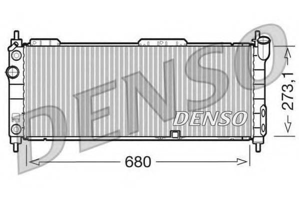 DENSO DRM20043 Радиатор, охлаждение двигателя